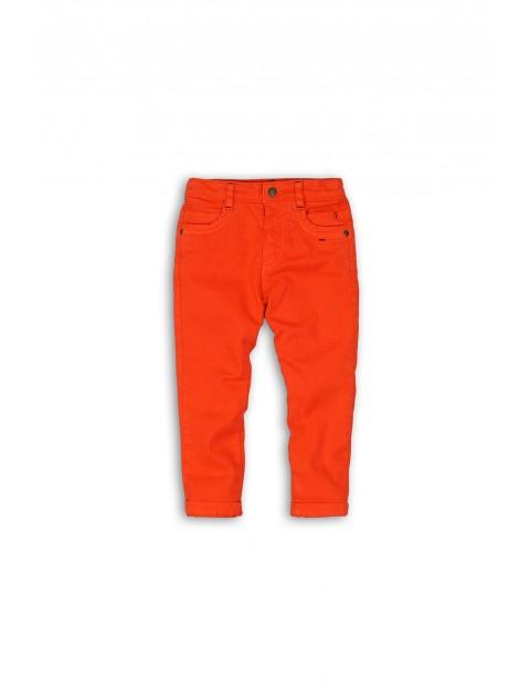 Spodnie niemowlęce pomarańczowe