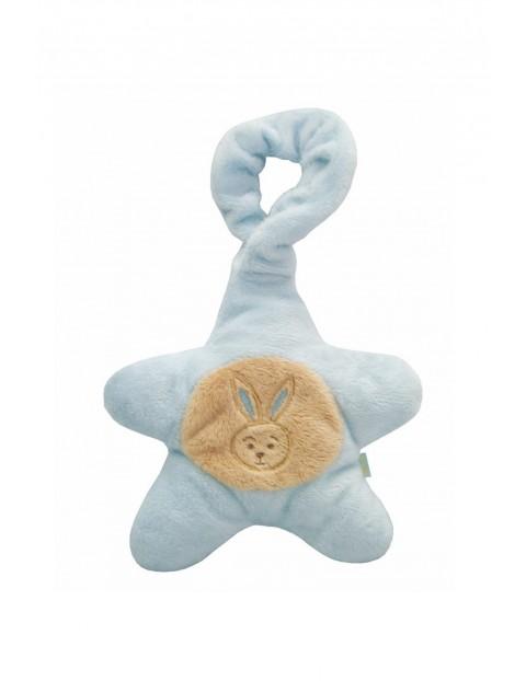Grzechotka gwiazdka z królikiem- niebieska 16cm