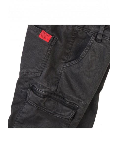 Spodnie chłopięce z kieszeniami grafitowe