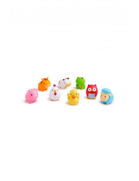 Zabawki kąpielowe farma Munchkin 8szt 9msc+