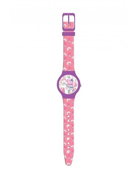Zegarek analogowy w puszce Świnka Peppa