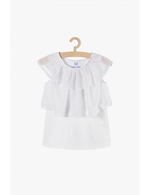 Bluzka dziewczęca biała z falbankami