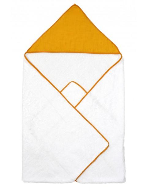 Okrycie kąpielowe dla dziecka 75x75cm - biało-żółte