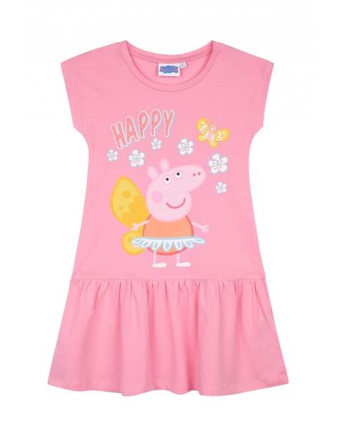 Sukienka dziewczęca Świnka Peppa- różowa
