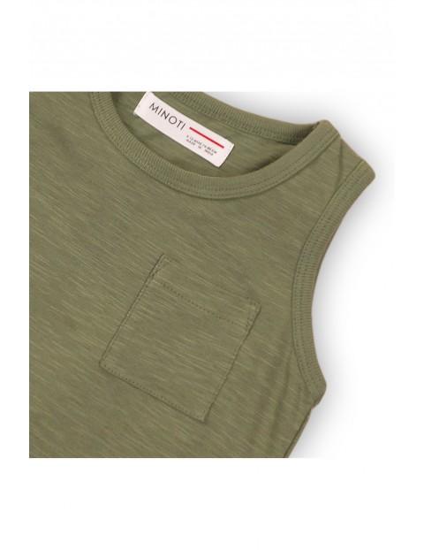 Bluzka chłopięca zielona na ramiączka