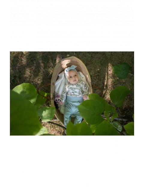 Bawełniane półśpiochy dla niemowląt w miętowym kolorze My Garden