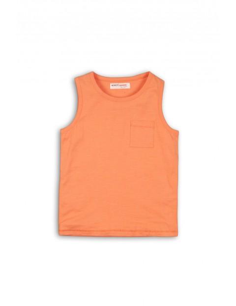 T- shirt chłopięcy - pomarańczowy- 100% bawełna