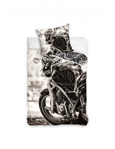 Pościel bawełniana z motocyklem 160x200+70x80cm