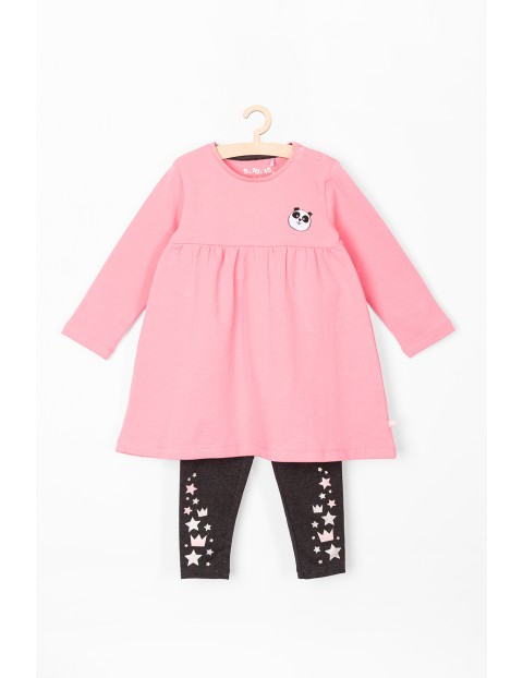 Komplet ubranek dla niemowlaka- tunika i leginsy