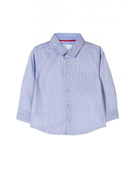 Elegancka niebieska koszula z długim rękawem dla chłopca