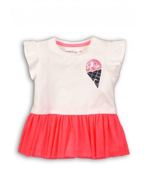 Koszulka dziewczęca z ozdobną falbaną