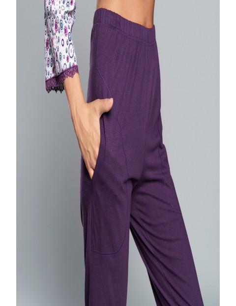 Piżama bawełniana damska -  3/4 rękaw, 3/4 spodnie