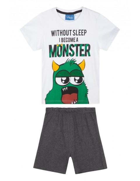 Piżama chłopięca dwuczęściowa Monster rozm 140