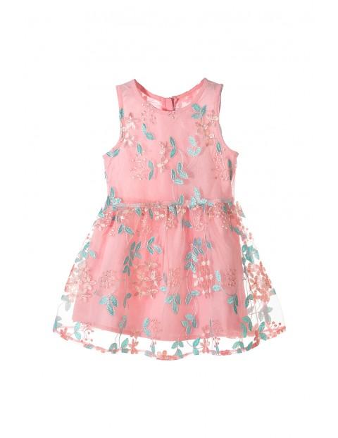 3d964d8c13 Elegancka sukienka w kwiaty dla dziewczynki