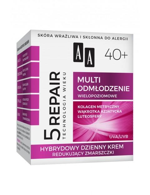 AA Technologia Wieku 5Repair 40+ Multi odmłodzenie hybrydowy dzienny krem 50 ml