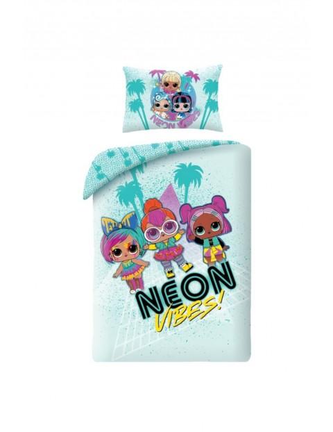 Pościel bawełniana LOL Surprise Neon 100x135 + 40x60cm