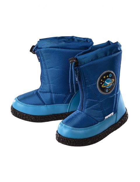 Śniegowce chłopięce- niebieskie
