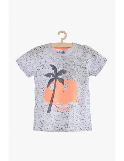 T-shirt dla chłopca- szary dzianinowy
