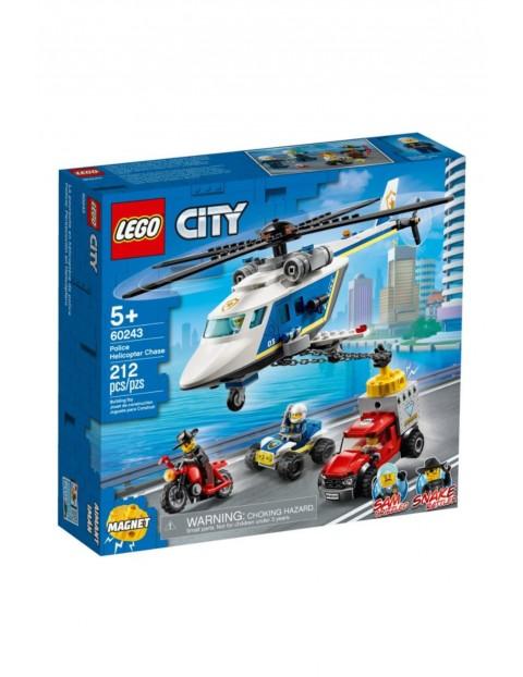 Lego City - Pościg helikopterem policyjnym - 212 elementów wiek 5+