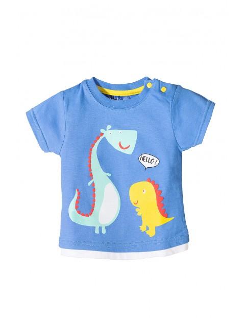 Koszulka niemowlęca z krótkim rękawem-dino