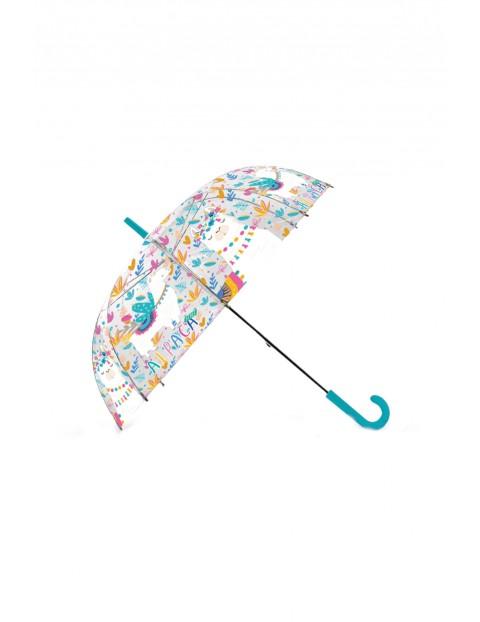 Parasolka przezroczysta, automatyczna dla dzieci 52 cm Lama