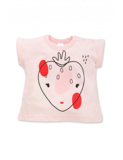 Koszulka niemowlęca z nadrukiem róż