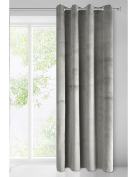 Zasłona jednokolorowa zaciemniająca - szara 1szt - 140x250cm