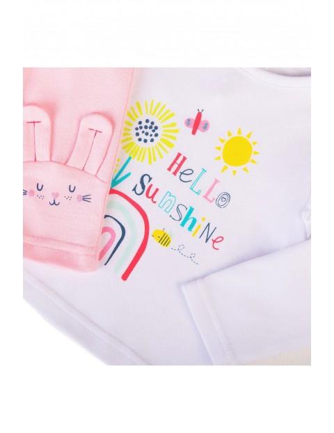 Komplet niemowlęcy- bawełniana bluzka + spodnie