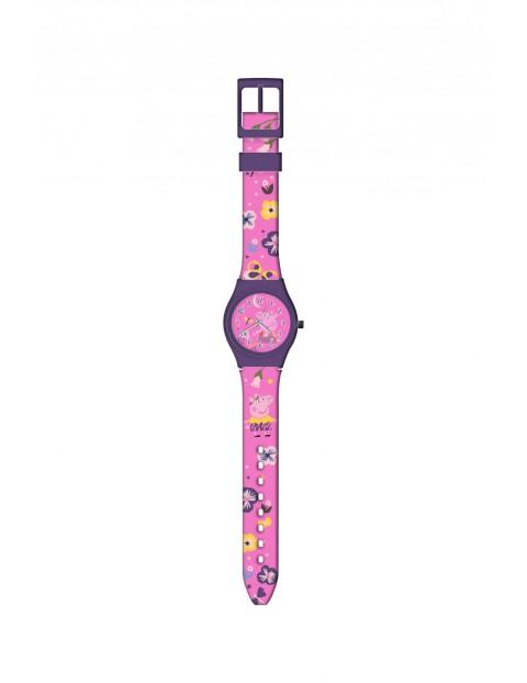 Zegarek analogowy w metalowym opakowaniu - Świnka Peppa