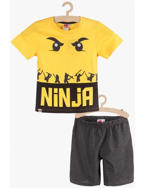 Pidżama chłopięca Lego Ninja żółto-szara rozm 140