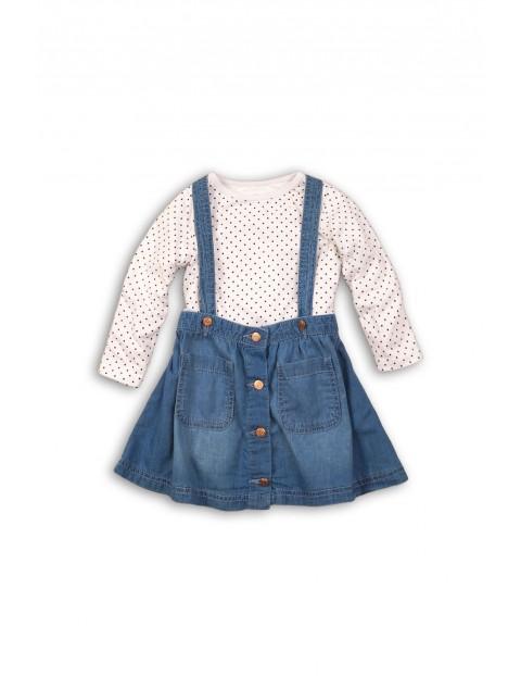 Komplet dziewczęcy sukienka+bluzka3P35A8