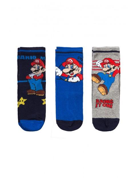 Skarpety chłopięce Mario Bros 3pak1V35A9