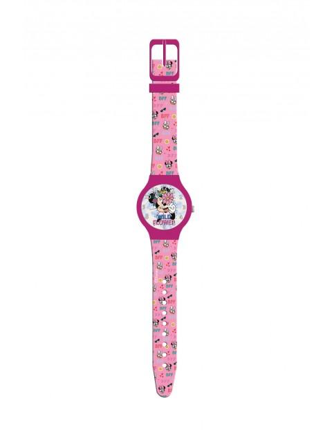 Zegarek analogowy dla dziewczynki-ozdobną puszka Minni