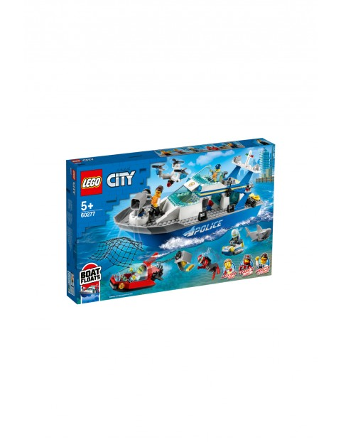 LEGO City 60277- Policyjna łódź patrolowa - 276 elementów