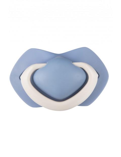 Zestaw smoczków uspok. silikon 0-6m symetryczny PURE - niebieski