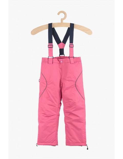 Spodnie narciarskie w kolorze różowym
