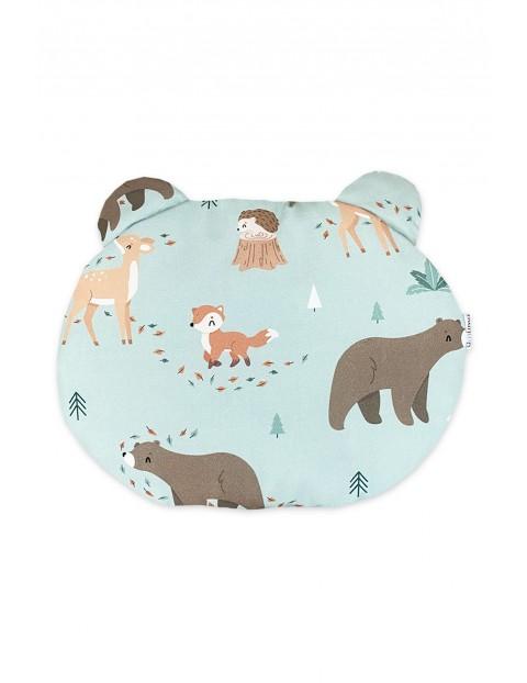 Poduszka niemowlęca miś Leśni Przyjaciele 35×30 cm