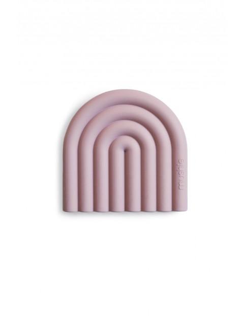 Mushie - Gryzak silikonowy RAINBOW Mauve - różowy