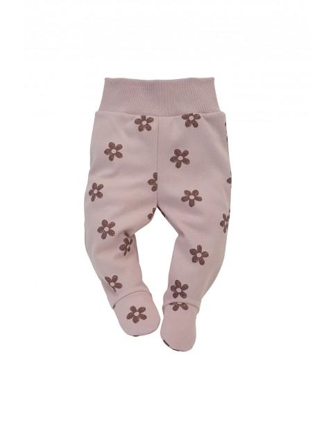 Półśpiochy niemowlęce różowe w kwiatki