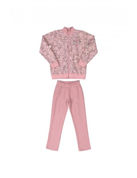 Komplet dziewczęcy- bluza rozpinana+ spodnie dresowe