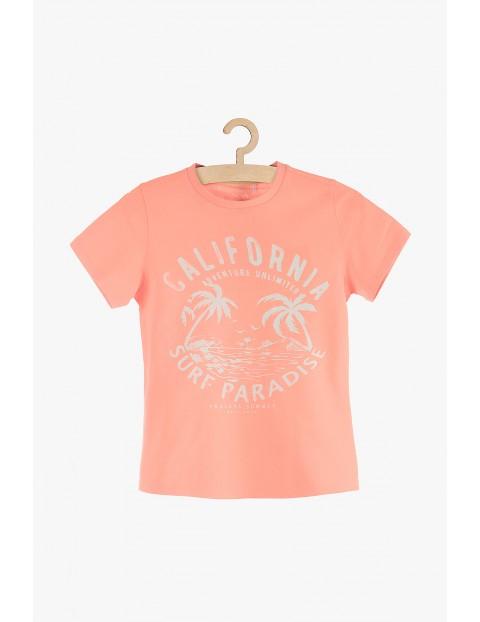 T-Shirt chłopięcy z nadrukiem- California