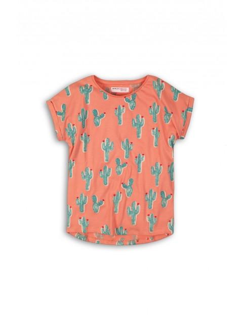 Różowa koszulka w kaktusy