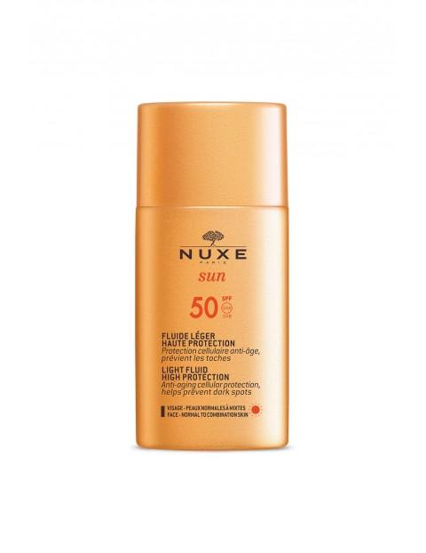 NUXE SUN Lekki krem z wysoką ochroną SPF50 do skóry normalnej i mieszanej 50 ml