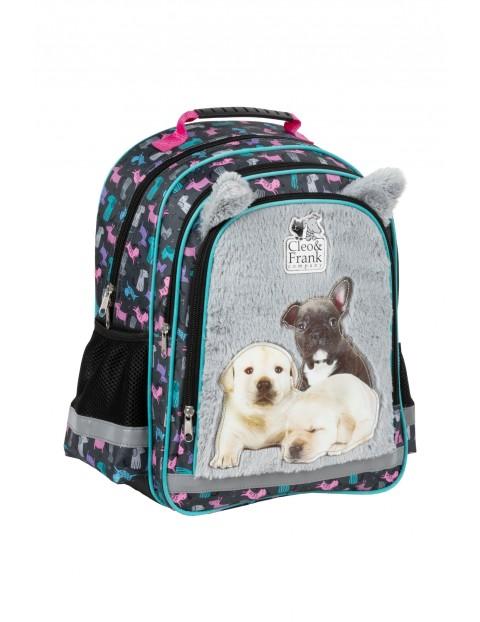 Plecak szkolny z usztywnianymi plecami- szary