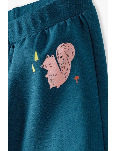 Dresowe spodnie niemowlece