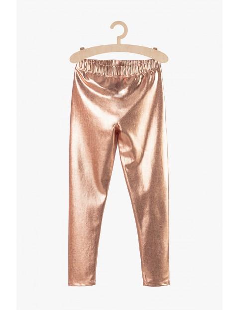 Leginsy dla dziewczynki- różowe złoto