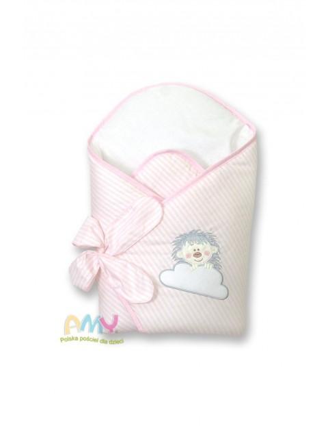 Becik usztywniany dla dziecka Amy Jeżyk- różowa