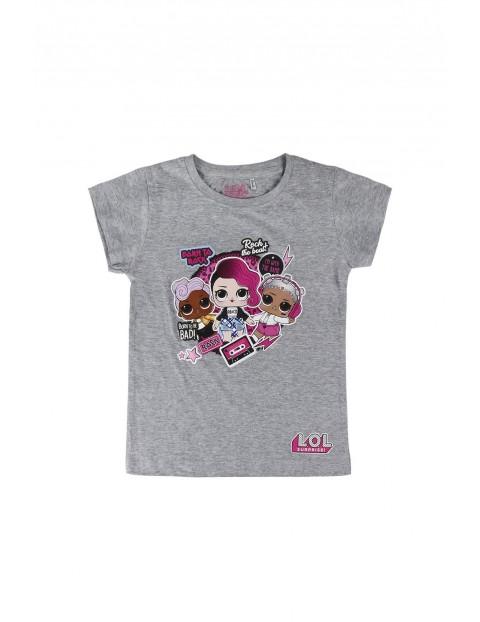 T-shirt dziewczęcy LOL Surprise szary