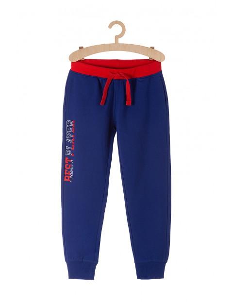 Spodnie dresowe dla chłopca Best Player-niebieskie