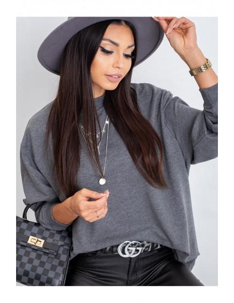 Luźna bluza dresowa damska basic - szara